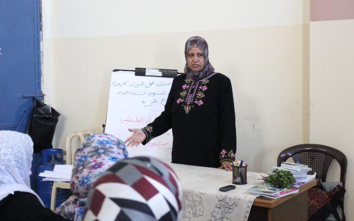 """ورشة عمل بعنوان """" تعزيز القيادات النسوية الشابة في قطاع غزة"""