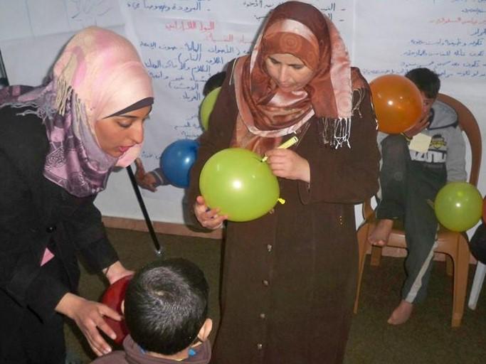 مشروع تحسين الظروف و الحالة النفسية للنساء و الأطفال في القطاع