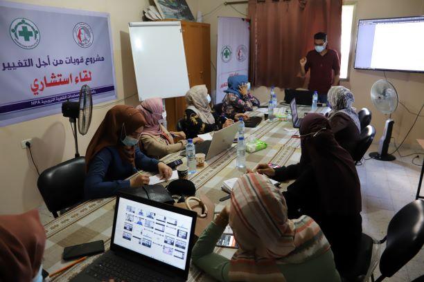 اتحاد لجان المرأة ينفذ جلستان استشاريتان حول المناصرة الرقمية وإدارة الحملات الالكترونية.