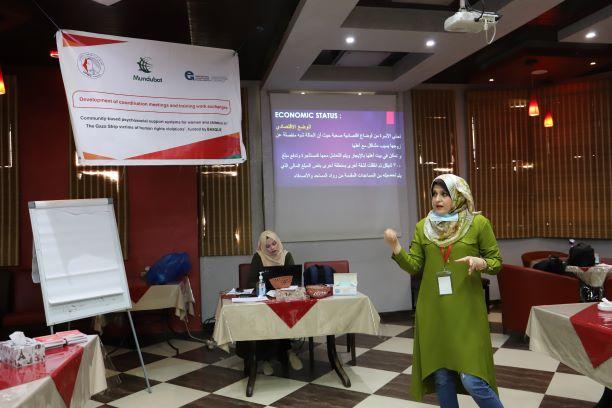 اتحاد لجان المرأة الفلسطينية يعقد مؤتمر الحالة ويؤكد استمرار تقديمه خدماته النفسية والاجتماعية.