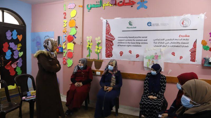 اتحاد لجان المرأة الفلسطينية يواصل تنفيذ جلسات الدعم النفسي الجماعي