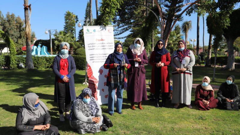 اختتام الجلسات الاولى للسيدات في منطقة غرب غزة