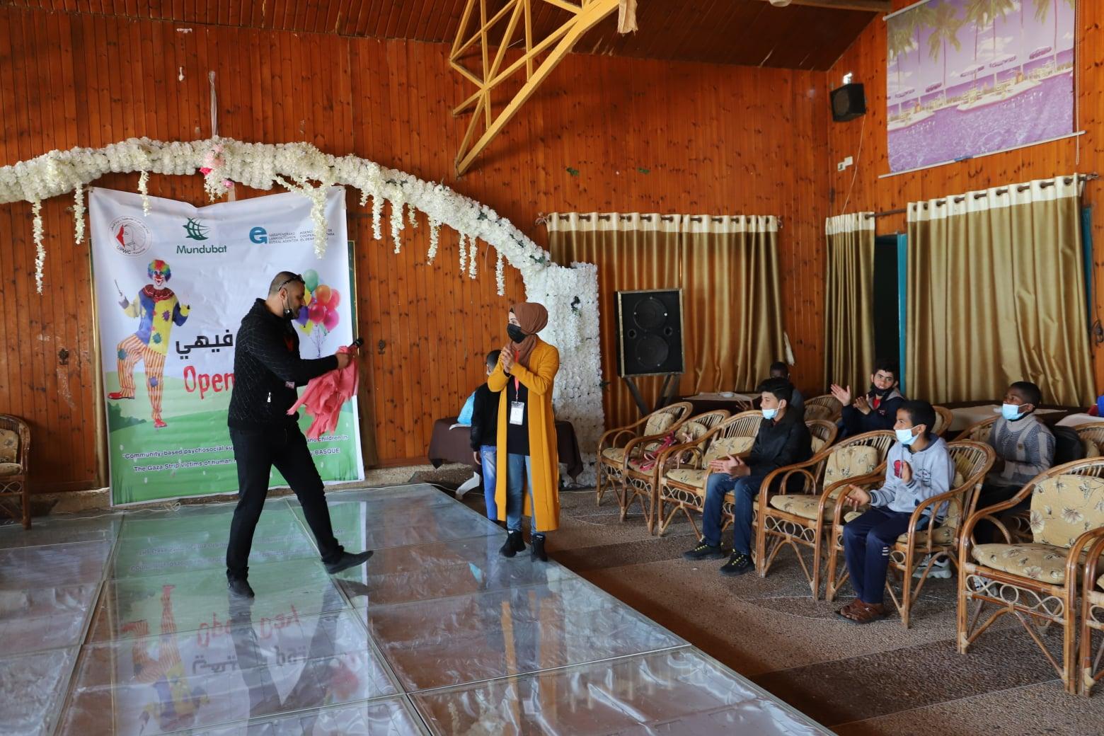 يوم ترفيهي لأطفال مدينة النصيرات ينفذه اتحاد لجان المرأة الفلسطينية