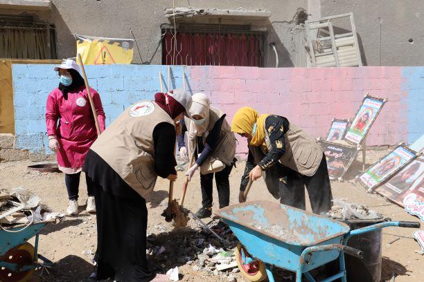 بهمتنا حنعمرها: مبادرة تهدف لتخفيف الآثار النفسية جراء العدوان الإسرائيلي على قطاع غزة.