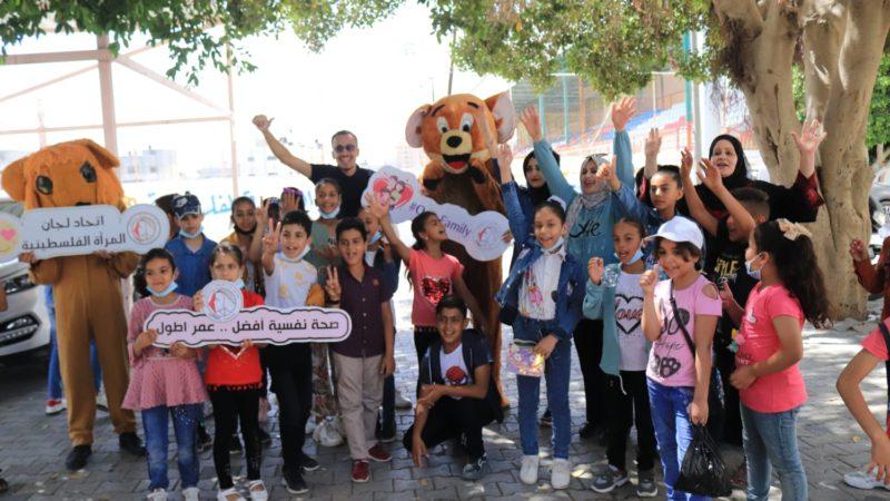 مبادرة ترفيهية لرسم البسمة على وجوه الأطفال والتخفيف من آثار العدوان.