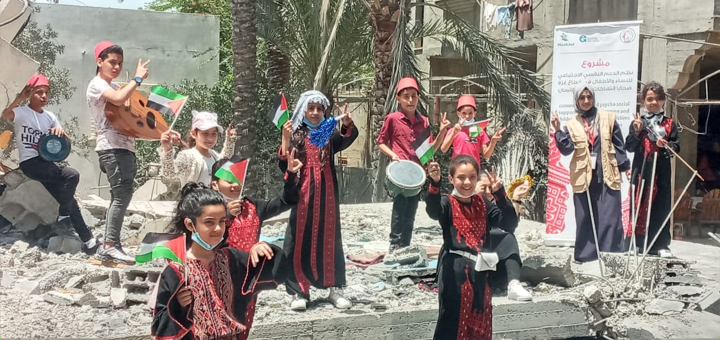 """طفولتنا مستمرة """" مبادرة يطلقها اتحاد لجان المرأة للتخفيف من أثار العدوان الإسرائيلي على الأطفال."""