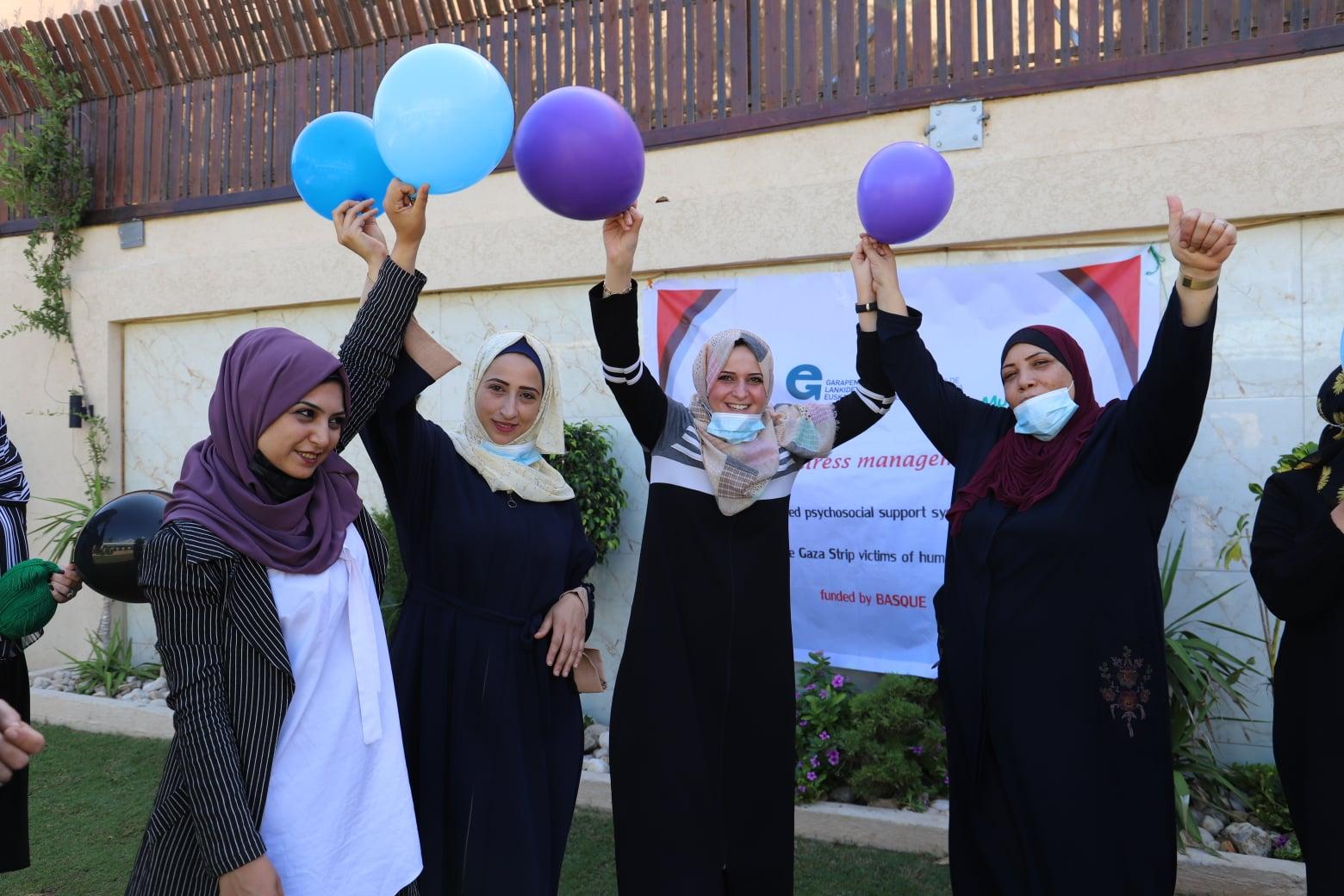 اتحاد لجان المرأة الفلسطينية ينفذ جلسة رعاية ذاتية لطاقم الاتحاد